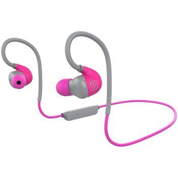Scosche bluetooth sportovní sluchátka s mikrofonem a ovládáním sportclipAIR, růžovo-šedé
